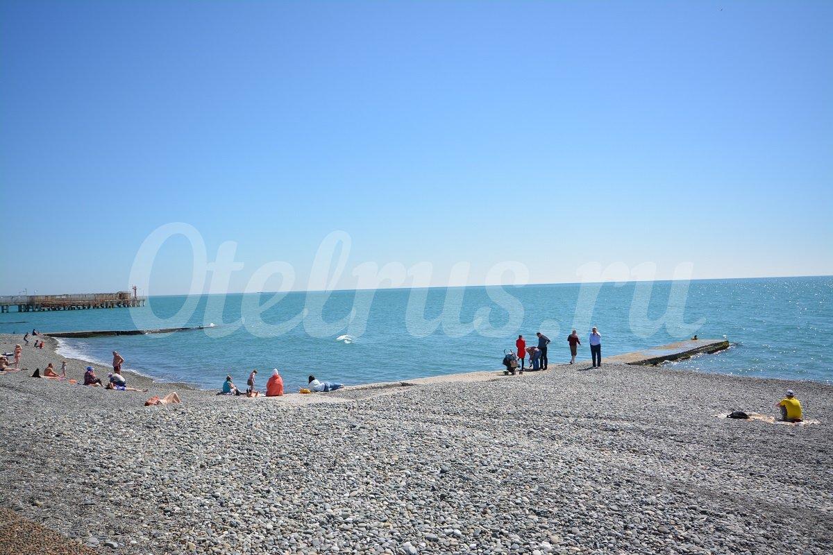 Фото пляж адлер огонек