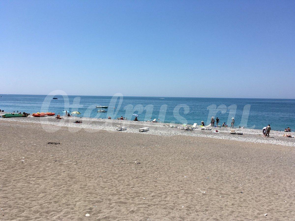 Новая гагра пляж фото